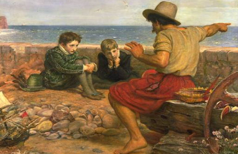 The boyhood of raleigh  sir john everett millais  oil on canvas  1870.